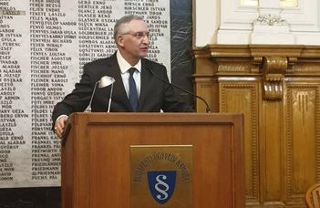 Gellér Balázs a Magyar Büntetőjogi Társaság Felügyelő Bizottságának elnöke
