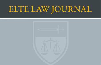 Megjelent az ELTE Law Journal 2018/2 száma