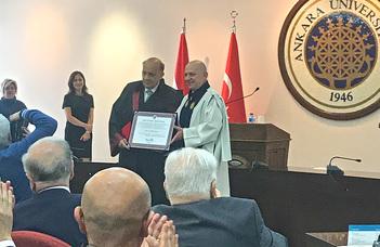 Hamza Gábor az Ankarai Egyetem díszdoktora
