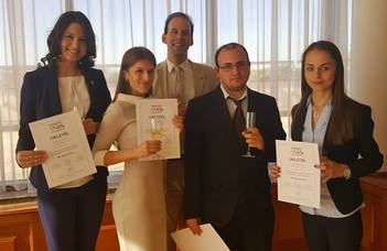 Sikeresen szerepeltek hallgatóink a nemzetközi jogi jogesetmegoldó versenyen