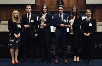 The team of ELTE Faculty of Law won this year's Telders International Law Moot Court Competition