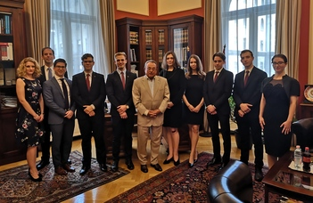 A Magyar Ügyvédi Kamara elnöke fogadta az ELTE Jessup és Telders Team tagjait