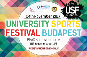 """""""Let's move together"""" – the festival will be organized by ELTE, ESN and BEAC."""