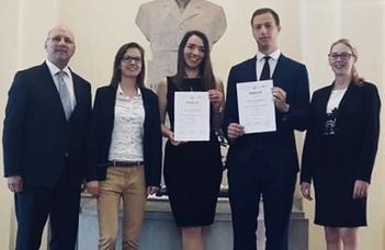 Az Országos Büntetőjogi Perbeszédversenyt is megnyerte az ELTE